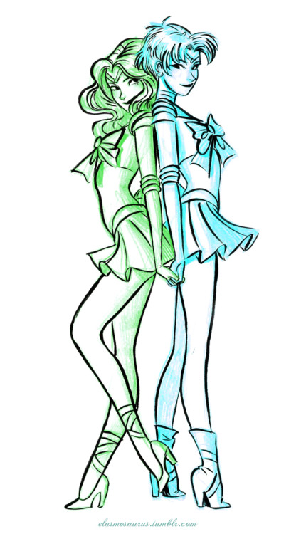 simplysailormoon:  elasmosaurus:  Sailor Neptune & Uranus  Hot. Sexy. Sassy. Perfect.
