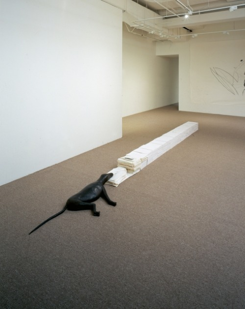 Artist from Netherlands Mark Manders. Several Drawings on Top of Each Other, 1990–2002His Gallery is ZenoX in Antwerpen.Contemporary-Art-Blog