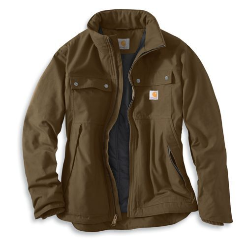Check out the new Carhartt Quick Duck™ Woodward Traditional Jacket. Made of the new Carhartt Quick Duck™ fabric. 8.5-ounce, 60% cotton/40% polyester canvas with a durable water-repellent finish, it's 30% lighter and ounce-for-ounce as durable as Carhartt sandstone duck. http://bit.ly/Mvx7Cw