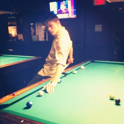 I play pool with styyyyle — / #pool #billiards #billiard #pooltable #cool #fashion #english #iphone #iphone4 #iphonesia #iphonesian #iphonography #hipster ##photography  (Taken with Instagram)