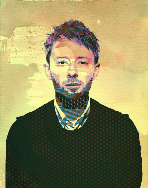 When I am king you will be first against the wall.  Thom Yorke illustrated by Desislava Metodieva :: via behance.net
