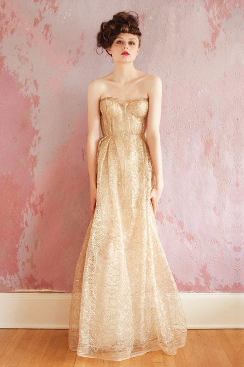 bride2be:  gold wedding dress from the sarah seven 2013 collection  LOVING IT!