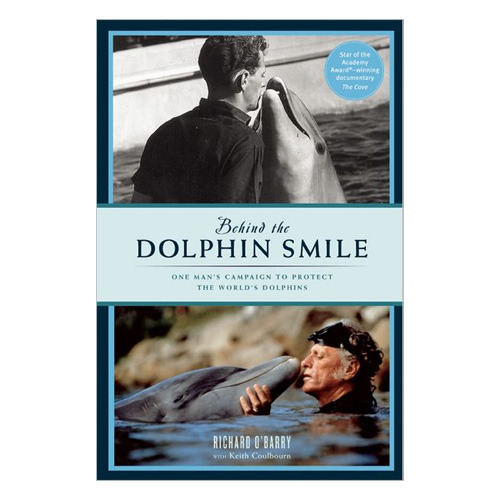 Behind the Dolphin Smile by Ric O'Barry Behind the Dolphin Smile chronicles Richard O'Barry's extraordinary journey from dolphin trainer to world-renowned advocate for dolphin freedom. In his early years, O'Barry trained dolphins to entertain audiences for shows at aquatic theme parks and for roles in movies and television shows, most notably Flipper. His career as a trainer came to an abrupt halt when one of the dolphins that played Flipper on television died of stress in his arms. At that moment, he realized that keeping dolphins in captivity and teaching them to do tricks was cruel and morally wrong. He began to understand that dolphins were easy to train not because of his gifts as a trainer, but because they are remarkably intelligent, and he vowed not to rest until he freed every last one of them.  25% of the purchase of this book will be donated directly to Ric O'Barry's Dolphin Project, helping to support Ric O'Barry's dolphin conservation efforts world wide.Buy it here