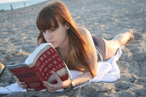 Reading on the Beach (by julia.leiby)