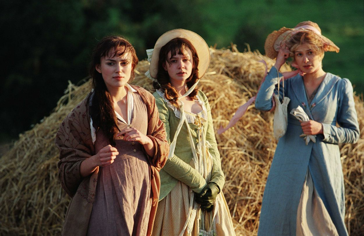 Keira Knightley, Carey Mulligan and Rosamund Pike in Joe Wright's Pride and Prejudice (2005)