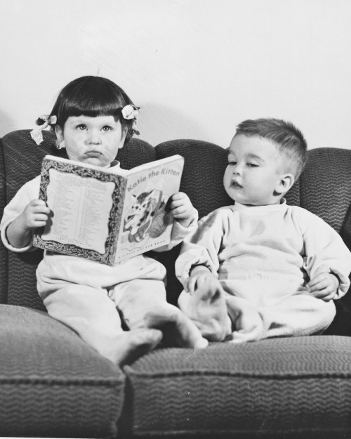 kathy and tom reading book 1951 (by Mudcat2010)