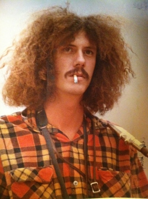 I'm posting this image of my father from when I think was the early '70s to A) show the origin of my Southern hippie culture obsession and B) prove that EPIC COOLNESS is hereditary, as are frizzy, overwhelming goyfros.
