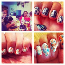 #nailparty results @ssilviasilvia @alyalfaro11  #nails  (Taken with Instagram at Bristol Square Apartments)