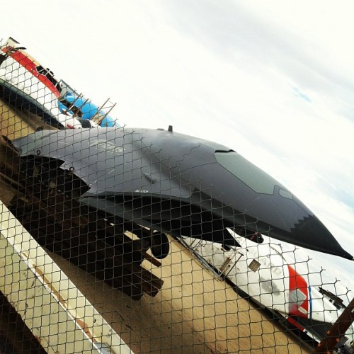 writer-b:  No idea. (Taken with Instagram at Aviation Warehouse)  Will?