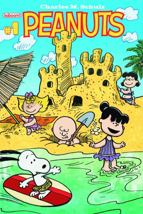 Market Monday Peanuts Vol. 2 #1, includes work by Vicki Scott, Mona Koth, and Paige Braddock  It's a Peanuts beach party as Charlie Brown, Snoopy, and the rest of the gang live it up for the last days of summer! After a summer vacation of its own, Peanuts comics are back and better than ever. With all-new stories, a How-To-Draw, and classic Sunday strips from Charles Schulz, get your perfect beach read right here. Featuring a Schroeder 1st appearance variant cover!