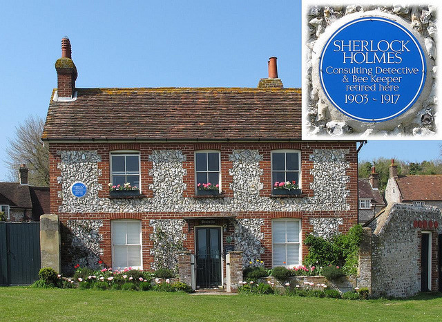This pretty cottage in East Dean, Sussex, England purports to be the very place where Sherlock Holmes spent his retirement, keeping bees.