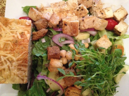 Country Salad with marinated tofu @ the Grey Dog