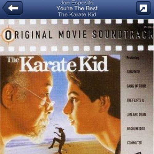 Your The Best… Aroundddd! #playlist #pandora #music #workout #getit #geek #karatekid #igers #igdaily #insta_rox #instagood #instagamers #igersoftheday  (Taken with Instagram)