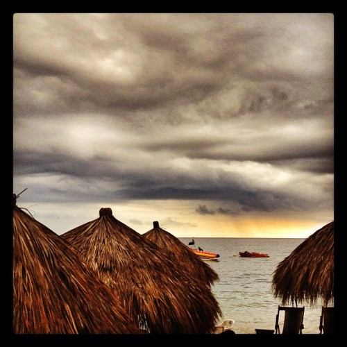 Dinner #puertovallarta #beach #sunset  (Taken with Instagram at Langostinos)