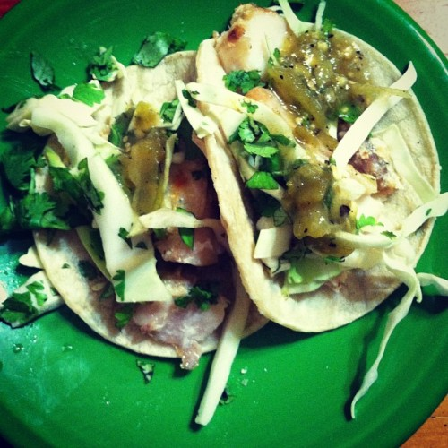 Consoling myself with this heat and a leaky a/c with these here fish tacos. #emotionaleater #fatgirlproblems #shutup (Taken with Instagram)