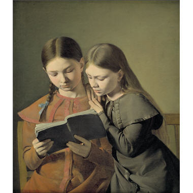 Women who read are dangerous Cal Christian Constantin Hansen, The artist's sister, 1826