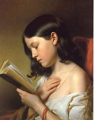 Women who read are dangerous Franz Eybl, Young lady reading, 1850