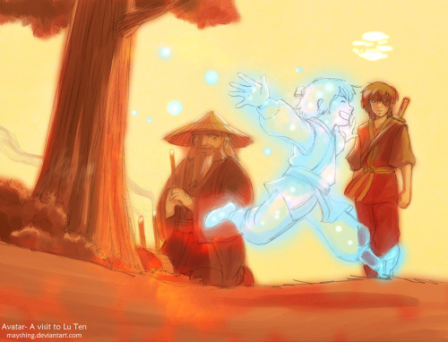 all-things-avatar-korra:  Iroh and Zuko visit Lu Ten by =mayshing oh my goodness…this is so beautiful but sad but happy…I don't even know