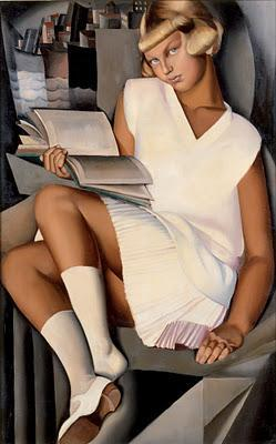 Women who read are dangerous Tamara de Lempicka , Kizette in pink