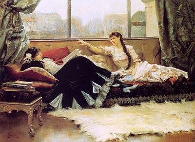 Women who read are dangerous Julius Leblanc Stewart, Sarah Bernhardt and Christine Nilsson, 1883