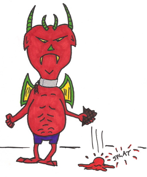 Daily Ice Cream Drawing…Ice Cream Devil (Summer Bummer version)…