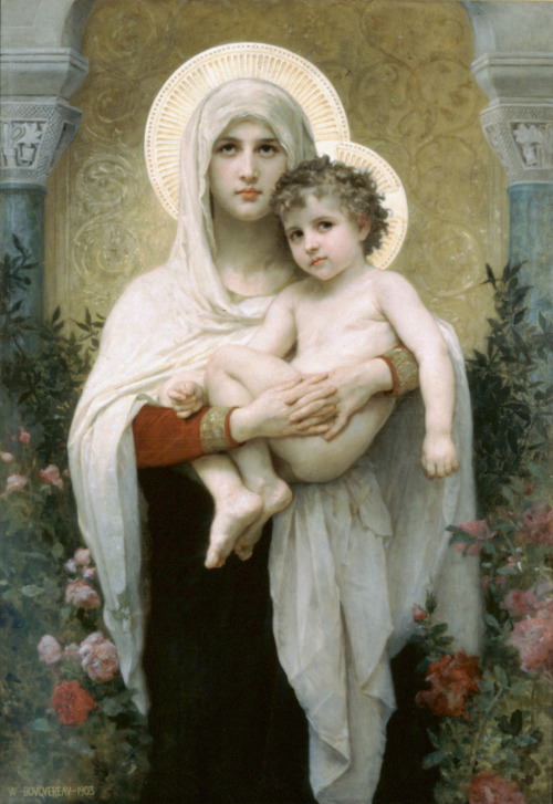 wurms-r-us:  William Adolph Bouguereau The Madonna of the Roses, 1903