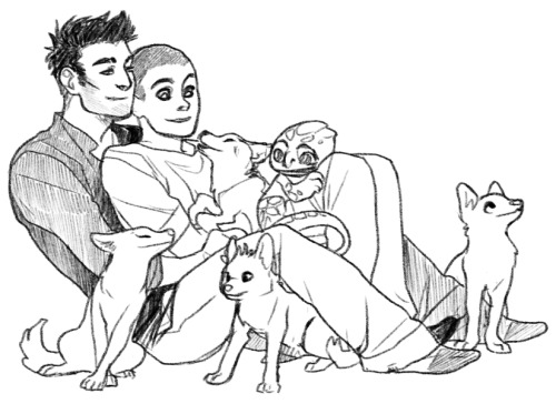 kickingshoes:  Sterek and the Puppy!Pack