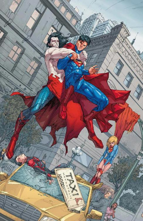 SUPERMAN #14  Written by SCOTT LOBDELL  Art and cover by KENNETH ROCAFORT 1:25 B&W Variant cover by KENNETH ROCAFORT  On sale NOVEMBER 28 • 32 pg, FC, $2.99 US • RATED T  • Following events in this month's SUPERGIRL #14 and SUPERBOY #14! • It's their worst nightmare: A creature of unknown Kryptonian origin, more powerful than Superman, smarter than Supergirl and more lethal than Superboy. • His actions will change the course of a planet's fate!