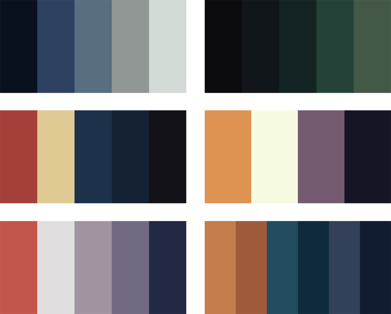 ryxchordata:   I got incredibly bored today so I made a bunch of palettes thought you might want to see them