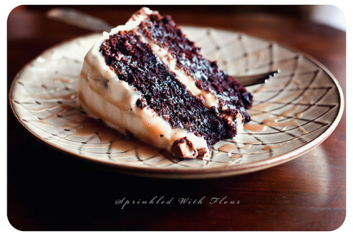 phoods:  (via Sprinkled with Flour: Chocolate Snickers Layer Cake)