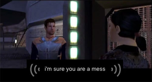 kotortranscribed:  That Carth, always sweet talkin' the ladies