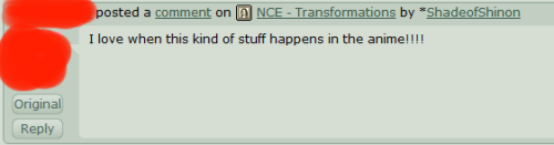 A comment I received on the Transofrmations comic strip I made for my Nuzlocke. The one where the team is gijinkas and Nessa breathes fire. Nononono. I'm too tired for this shit.