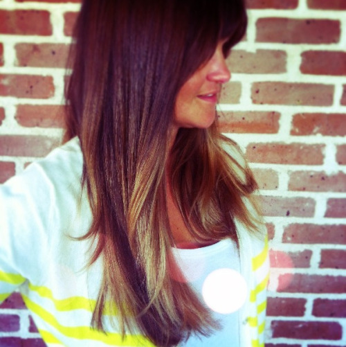 The best ombré hair color takes time. We have been doing ombre color on Heather for awhile now and I love the way the colors melt and blend in her hair. Be patient with your hair (the cuticle can only do so much in one appt), stylist and the color process :)