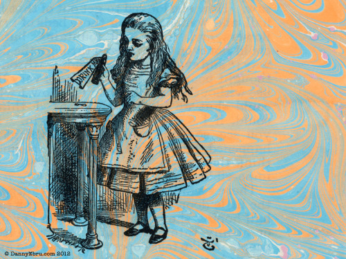 teachingliteracy:  Alice in Ebru Art Wonderland (by Lucid Optic Lab)