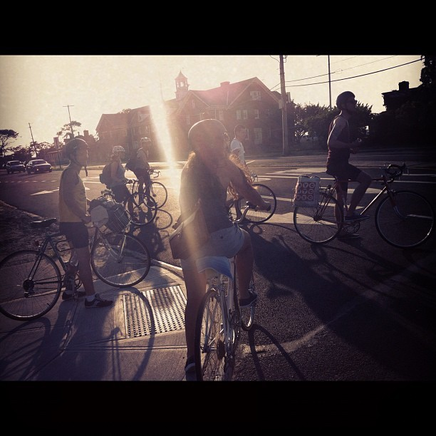 beach bike traffic  (Taken with Instagram)