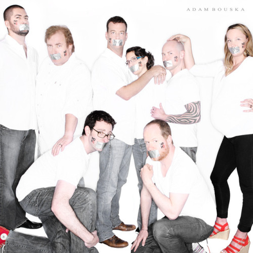boredn0w:  Buffy the Vampire Slayer writers show their support for NOH8!  BTVS Me: I think it's so cool too see when the writers get promotions by reading the credits. Wife: I don't care.