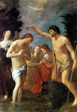 masterpiecedaily:  Guido Reni Baptism of Christ 1623