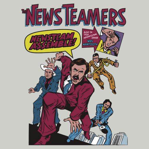 """News Team Assemble!"" by nikholmes t-shirt or hoodie, and sticker"