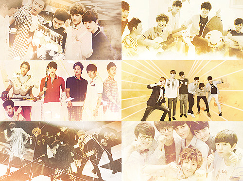 color+picspam: exo-k + gold (requested by: imyoonas)