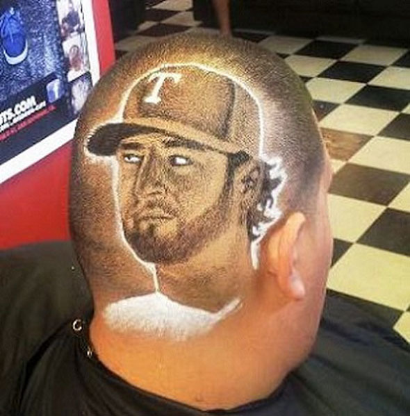 Nice haircut Bro… Some Texas Rangers fan LOVES Mike Napoli.