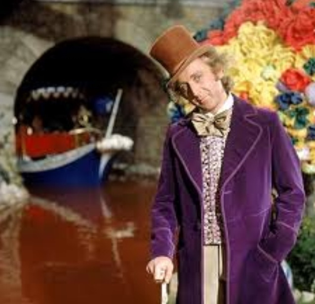 "When Gene Wilder was asked to play the role of Willy Wonka, he only accepted on one condition: ""When I make my first entrance, I'd like to come out of the door carrying a cane and then walk toward the crowd with a limp. After the crowd sees Willy Wonka is a cripple, they all whisper to themselves and then become deathly quiet. As I walk toward them, my cane sinks into one of the cobblestones I'm walking on and stands straight up, by itself… but I keep on"