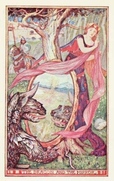 The brown fairy book (c1904)illustrations by Henry Justice Ford The Dragon and the Mirror