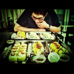 Sushi night con @horcasitass-san  (Taken with Instagram)