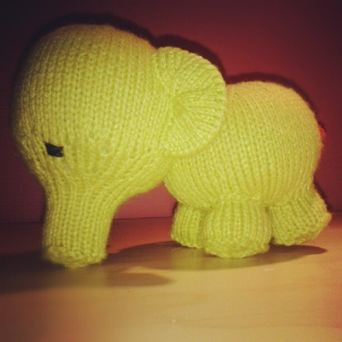 The sad little elephant is complete! (Taken with Instagram)