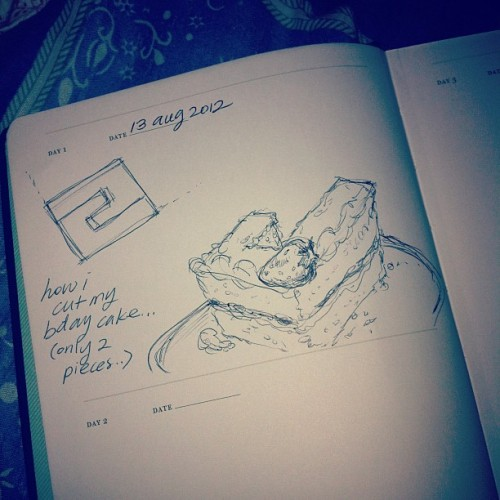 One (or two) sketch(es) a day book #draw (Taken with Instagram)