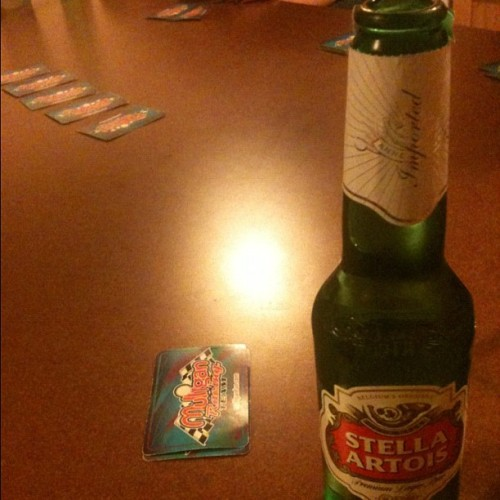 staygoldenponies:  Ohh drinking games. Hahaha #drinking #stellaartois #stella #beer #cards #games #hashtag #college #collegelife (Taken with Instagram)  just you wait, I have a few games to teach you myself! Fuck I can't wait to move in already!