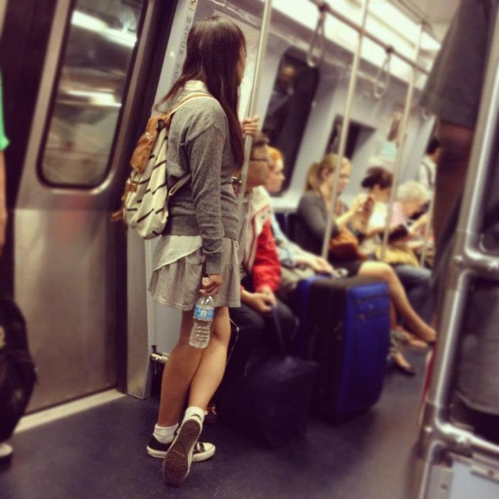 You see a nerdy looking girl on the Boston subway. You think she looks vaguely familiar, but you're pretty sure she is a Chinese schoolgirl visiting the States; you can't have met before.  You take a closer look. It's me.