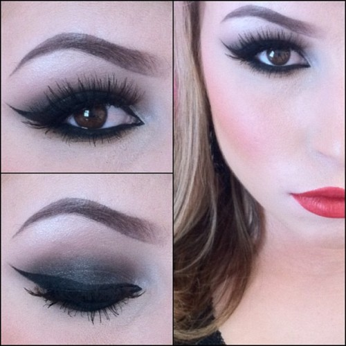 ashleyswagner:  #makeup of the day :3 #motd #mua #makeupartist #makeupjunkies #inglot #inglotcosmetics #smokey #redlips #red #lipstick #lashes #eyeliner #ashleyswagner #missashwag #browneyes (Taken with Instagram)