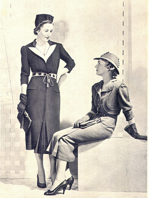 "Fashion 1930s ""Day Dresses"" by Petite Main on Flickr."