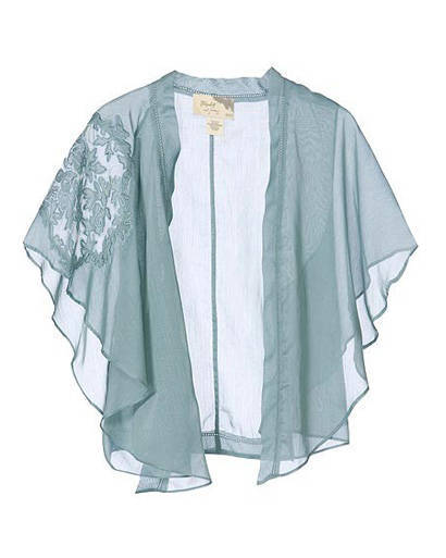 Lace Sheer kimono capelet, Elizabeth and James, $295 visit chickdowntown.com